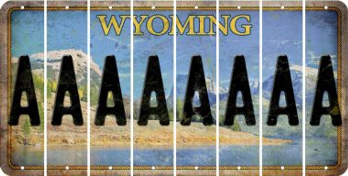Wyoming A Cut License Plate Strips (Set of 8) LPS-WY1-001