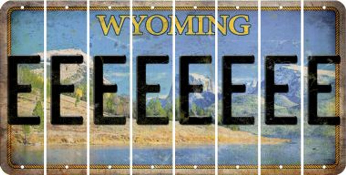 Wyoming E Cut License Plate Strips (Set of 8) LPS-WY1-005