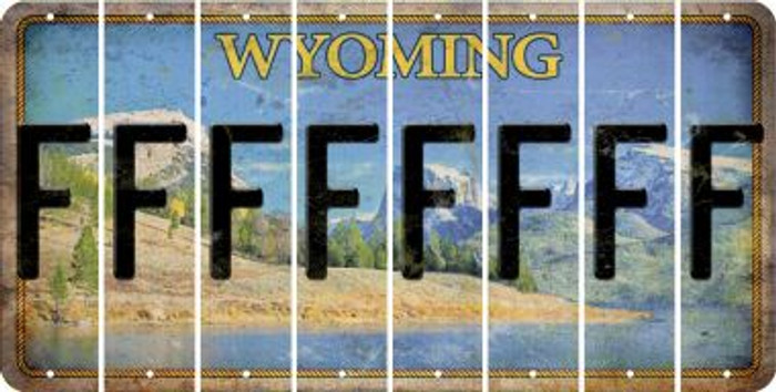 Wyoming F Cut License Plate Strips (Set of 8) LPS-WY1-006