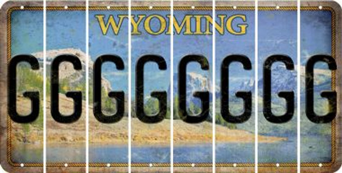 Wyoming G Cut License Plate Strips (Set of 8) LPS-WY1-007
