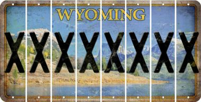 Wyoming X Cut License Plate Strips (Set of 8) LPS-WY1-024