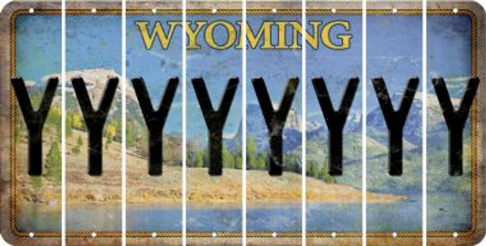 Wyoming Y Cut License Plate Strips (Set of 8) LPS-WY1-025
