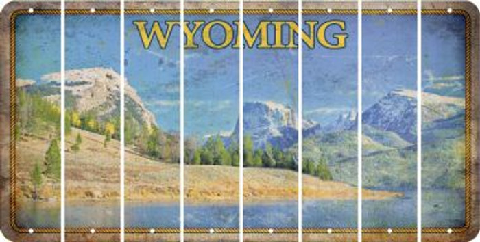 Wyoming BLANK Cut License Plate Strips (Set of 8) LPS-WY1-037