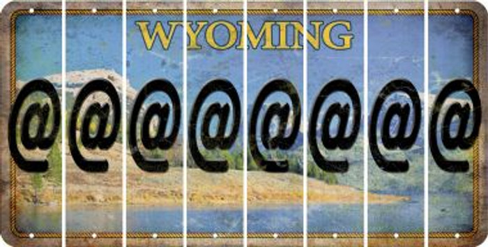 Wyoming ASPERAND Cut License Plate Strips (Set of 8) LPS-WY1-039