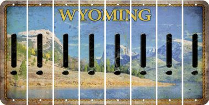 Wyoming EXCLAMATION POINT Cut License Plate Strips (Set of 8) LPS-WY1-041