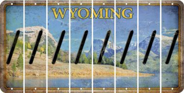 Wyoming FORWARD SLASH Cut License Plate Strips (Set of 8) LPS-WY1-042