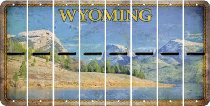 Wyoming HYPHEN Cut License Plate Strips (Set of 8) LPS-WY1-044