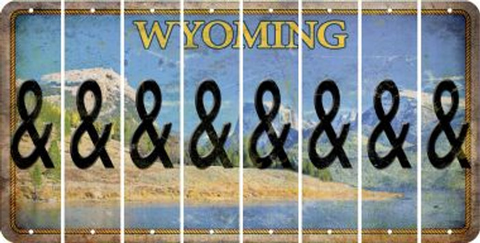 Wyoming AMPERSAND Cut License Plate Strips (Set of 8) LPS-WY1-049