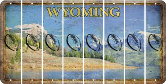 Wyoming FOOTBALL Cut License Plate Strips (Set of 8) LPS-WY1-060
