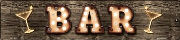 Bar Cocktails Bulb Lettering Wholesale Small Street Signs K-817
