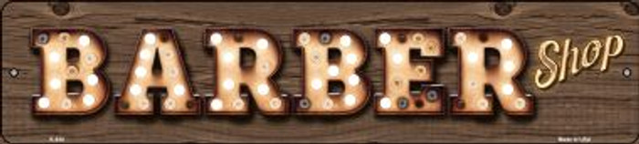 Barber Shop Bulb Lettering Wholesale Small Street Signs K-830