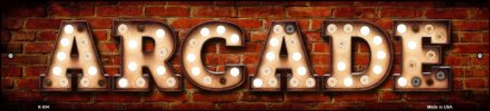 Arcade Bulb Lettering Wholesale Small Street Signs K-834