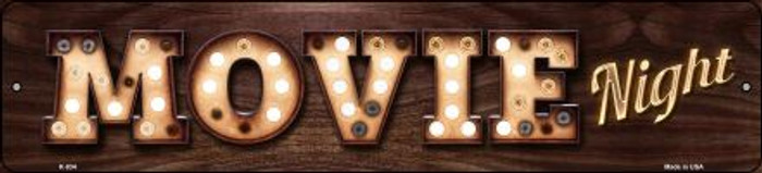 Movie Night Bulb Lettering Wholesale Small Street Signs K-835