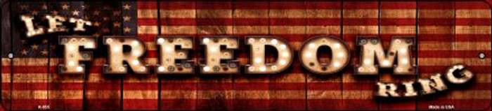 Let Freedom Ring Bulb Lettering American Flag Wholesale Small Street Signs K-855