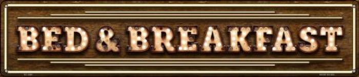 Bed and Breakfast Bulb Lettering Wholesale Novelty Metal Street Sign ST-1389
