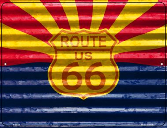 Route 66 Arizona Flag Wholesale Novelty Parking Sign P-2312