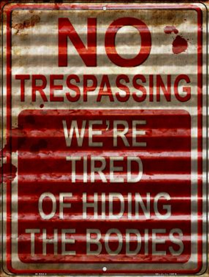 No Trespassing Wholesale Novelty Parking Sign P-2314