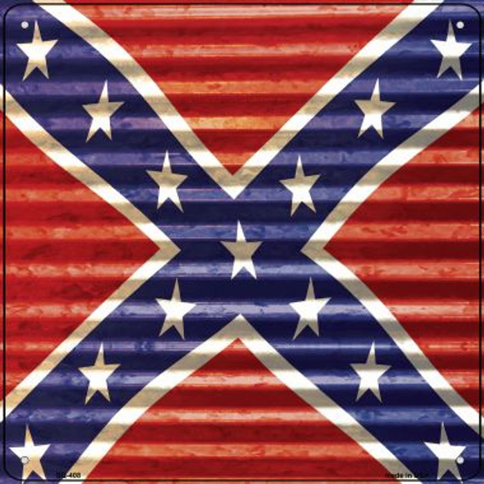 Confederate Flag Wholesale Novelty Square Sign SQ-408