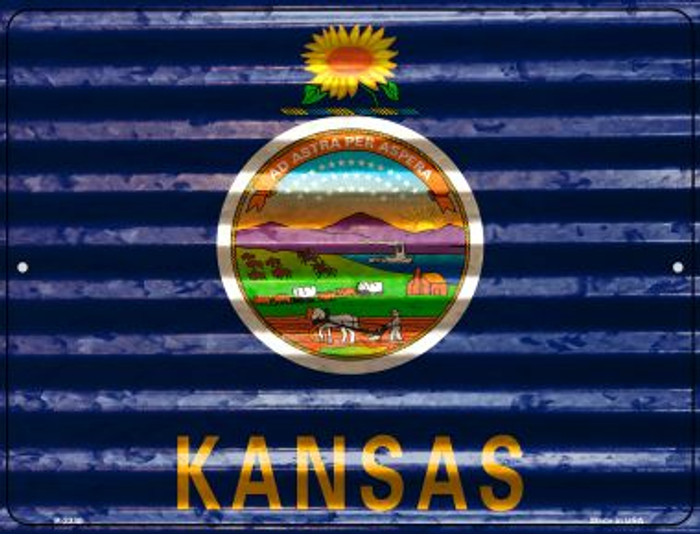 Kansas Flag Wholesale Novelty Parking Sign P-2330