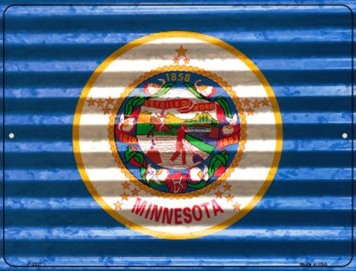 Minnesota Flag Wholesale Novelty Parking Sign P-2337