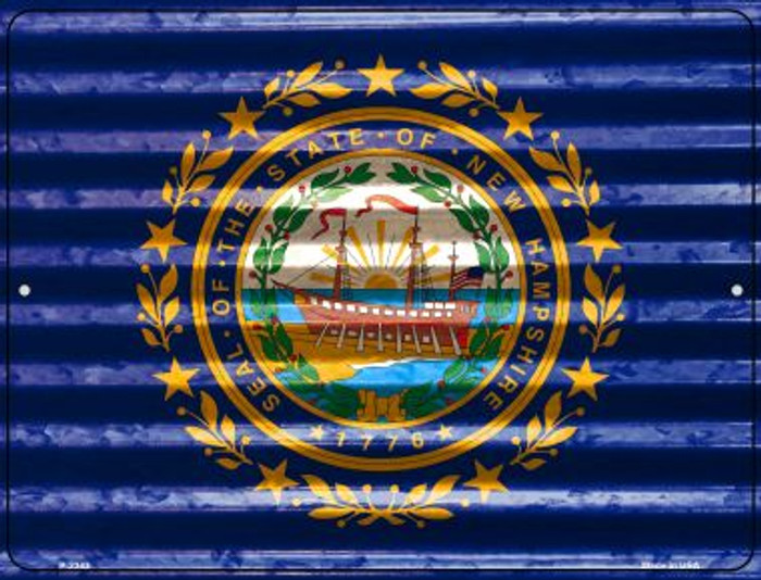 New Hampshire Flag Wholesale Novelty Parking Sign P-2343
