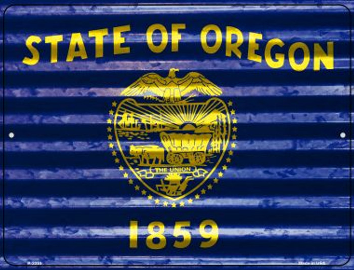 Oregon Flag Wholesale Novelty Parking Sign P-2351