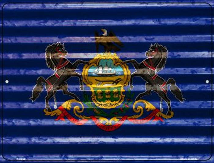 Pennsylvania Flag Wholesale Novelty Parking Sign P-2352