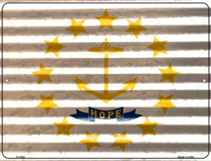 Rhode Island Flag Wholesale Novelty Parking Sign P-2353