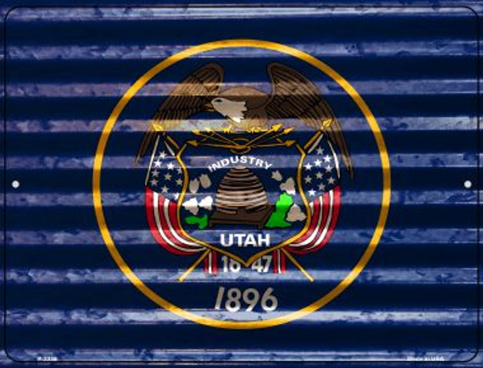 Utah Flag Wholesale Novelty Parking Sign P-2358