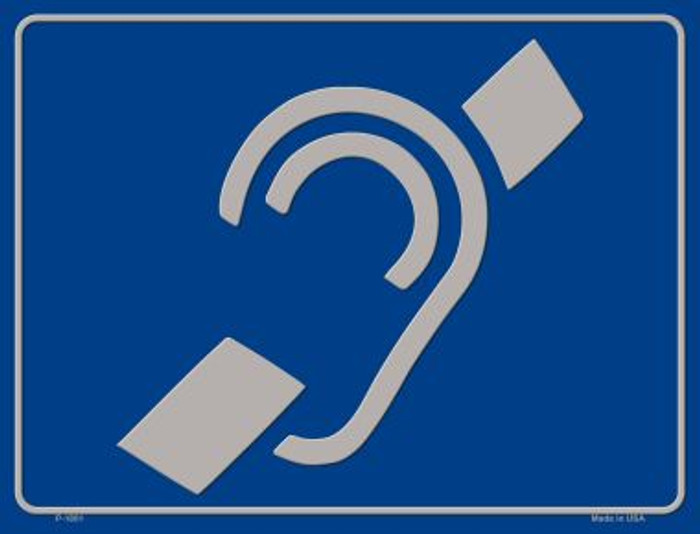 Hearing Impaired Wholesale Parking Sign P-1801