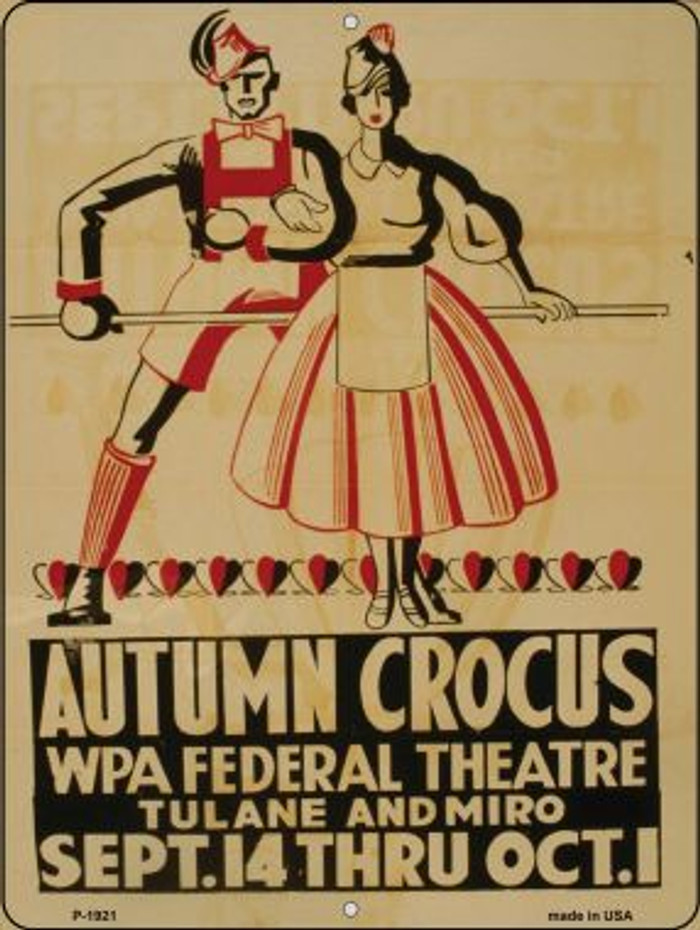 Autumn Crocus Vintage Poster Wholesale Parking Sign P-1921
