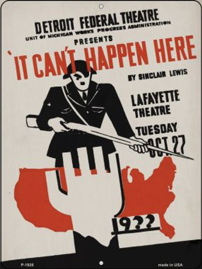 It Cant Happen Here Vintage Poster Wholesale Parking Sign P-1926
