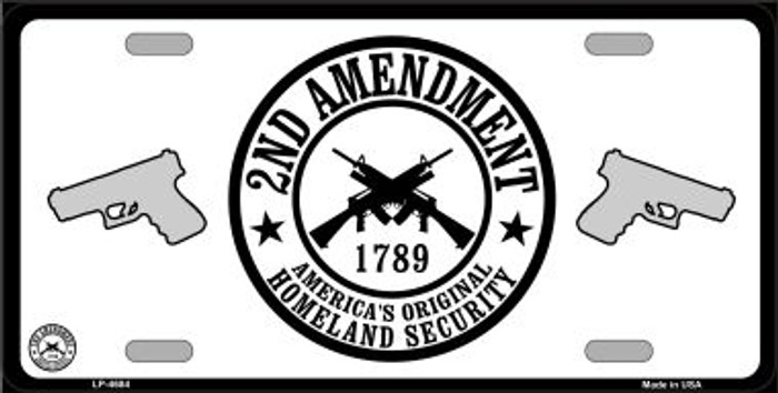 2nd Amendment Wholesale Metal Novelty License Plate