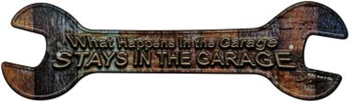 What Happens In The Garage Wholesale Novelty Metal Wrench Sign W-117