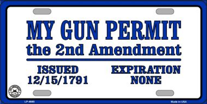 My Gun Permit Wholesale Metal Novelty License Plate