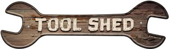 Tool Shed Wholesale Novelty Metal Wrench Sign W-143