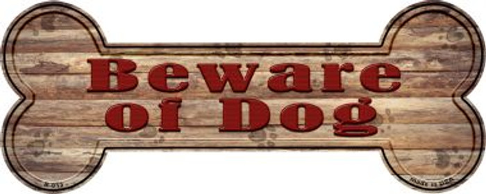 Beware of Dog Wholesale Novelty Bone Magnet B-013