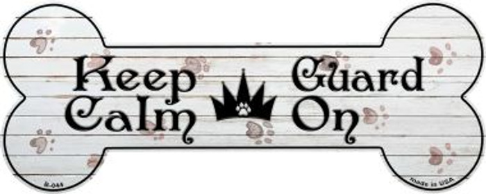 Keep Calm Guard On Novelty Bone Magnet B-044