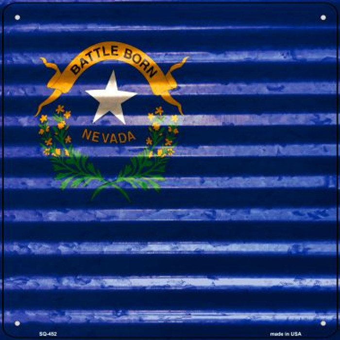 Nevada Flag Corrugated Effect Wholesale Novelty Square Sign SQ-452