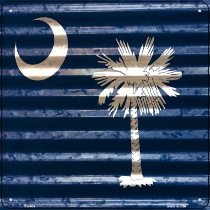 South Carolina Flag Corrugated Effect Wholesale Novelty Square Sign SQ-464