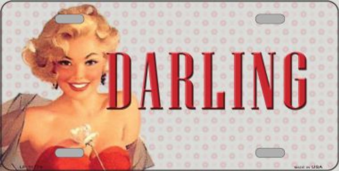 Darling Vintage Pinup Wholesale Novelty License Plate LP-11779
