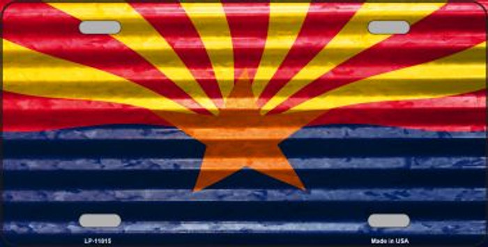 Arizona Flag Wholesale Novelty License Plate LP-11815