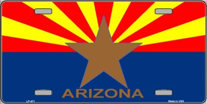 Arizona State Flag Wholesale Metal Novelty License Plate LP-471