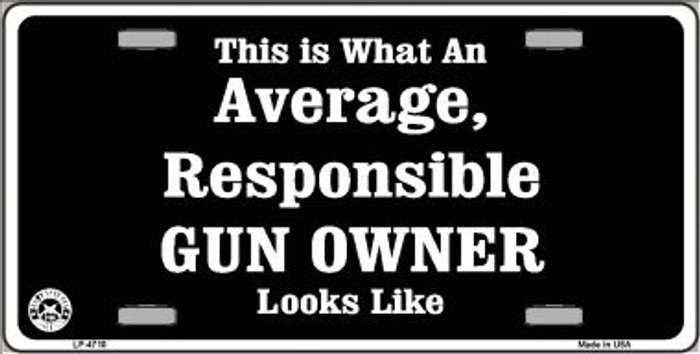 Average Gun Owner Wholesale Metal Novelty License Plate LP-4710