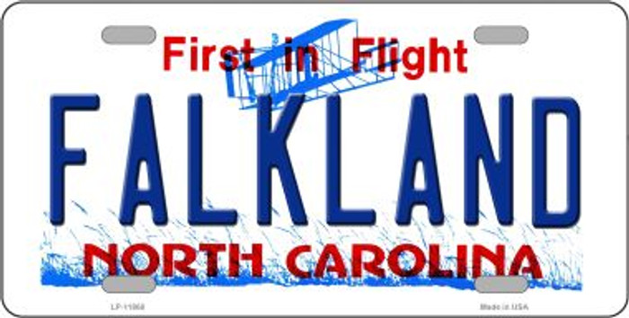 Falkland North Carolina Wholesale Novelty License Plate LP-11860