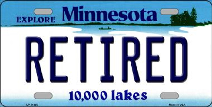 Retired Minnesota State Novelty Wholesale License Plate LP-11060