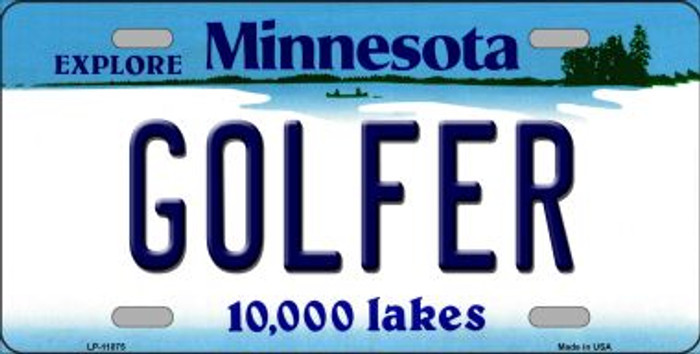 Golfer Minnesota State Novelty Wholesale License Plate LP-11075