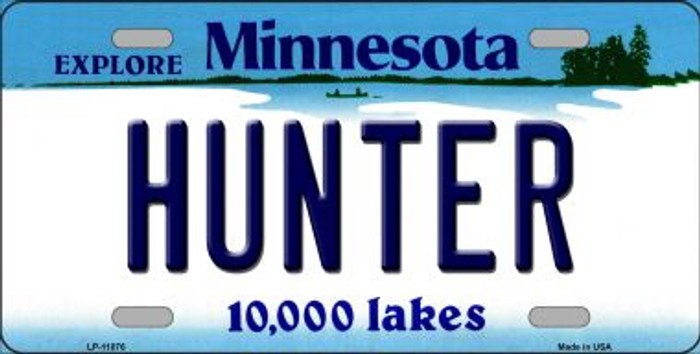 Hunter Minnesota State Novelty Wholesale License Plate LP-11076