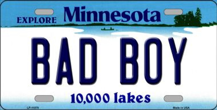Bad Boy Minnesota State Novelty Wholesale License Plate LP-11078