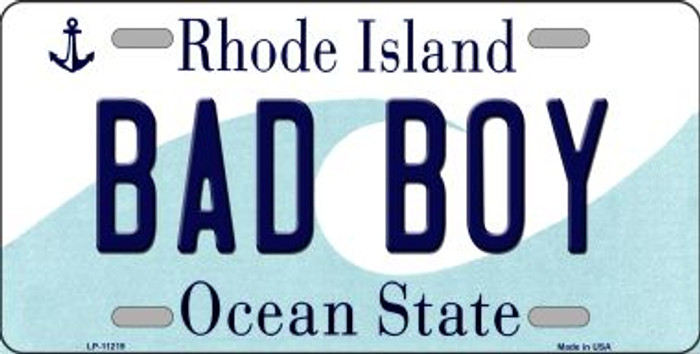Bad Boy Rhode Island State License Plate Novelty Wholesale License Plate LP-11219